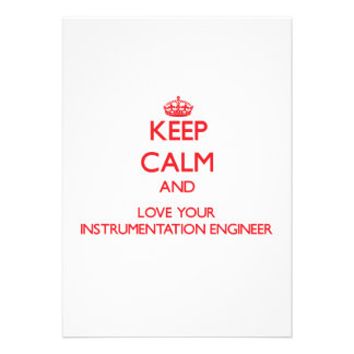 Keep Calm and Love your Instrumentation Engineer Personalized Announcements