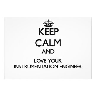 Keep Calm and Love your Instrumentation Engineer Personalized Invite