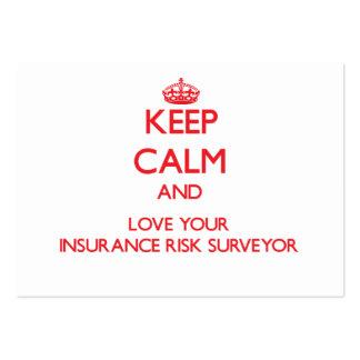 Keep Calm and Love your Insurance Risk Surveyor Business Card Template