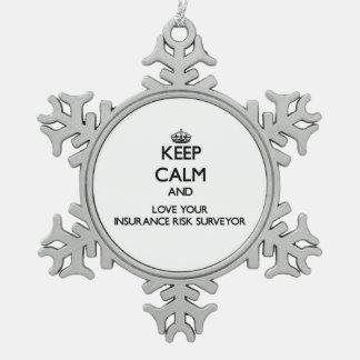 Keep Calm and Love your Insurance Risk Surveyor Ornament