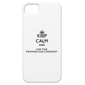 Keep Calm and Love your Insurance Sales Consultant iPhone 5 Cases