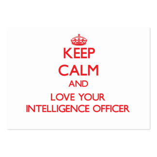 Keep Calm and Love your Intelligence Officer Large Business Cards (Pack Of 100)