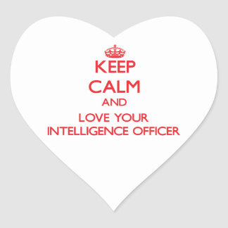 Keep Calm and Love your Intelligence Officer Sticker