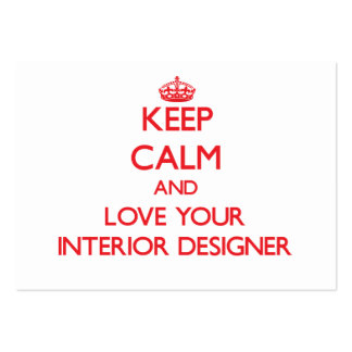 Keep Calm and Love your Interior Designer Business Card Templates