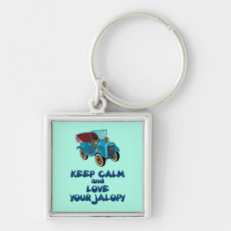 Keep Calm And Love Your Jalopy Humorous Design Keychain
