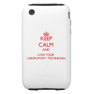 Keep Calm and Love your Laboratory Technician iPhone 3 Tough Covers