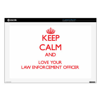"""Keep Calm and Love your Law Enforcement Officer Skin For 17"""" Laptop"""