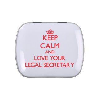 Keep Calm and Love your Legal Secretary Jelly Belly Tin