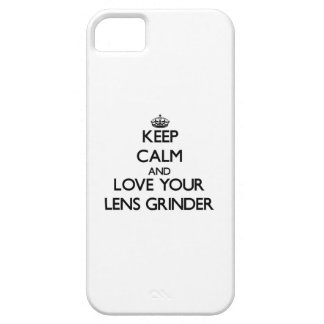 Keep Calm and Love your Lens Grinder iPhone 5 Covers