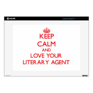Keep Calm and Love your Literary Agent Skin For Laptop