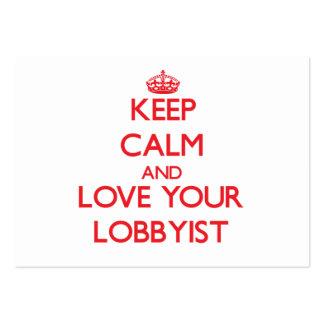 Keep Calm and Love your Lobbyist Business Card