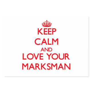 Keep Calm and Love your Marksman Business Card Template