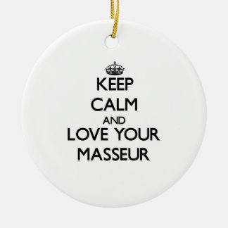 Keep Calm and Love your Masseur Christmas Tree Ornaments