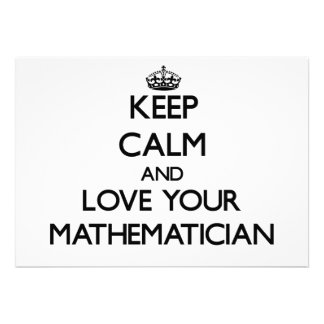Keep Calm and Love your Mathematician Personalized Invites