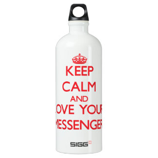 Keep Calm and Love your Messenger SIGG Traveler 1.0L Water Bottle