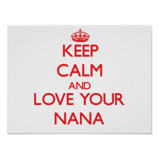 Keep Calm and Love your Nana Poster