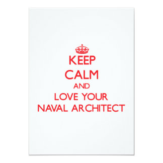 Keep Calm and Love your Naval Architect Card