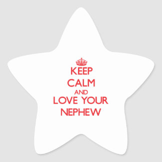 Keep Calm and Love your Nephew Star Sticker