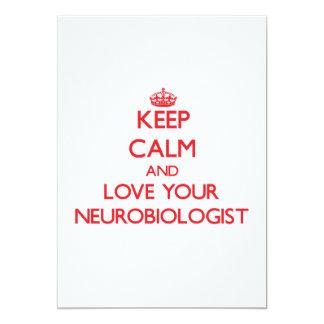 Keep Calm and Love your Neurobiologist Custom Announcement