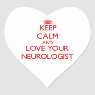 Keep Calm and Love your Neurologist Sticker