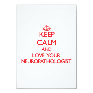 Keep Calm and Love your Neuropathologist Invite
