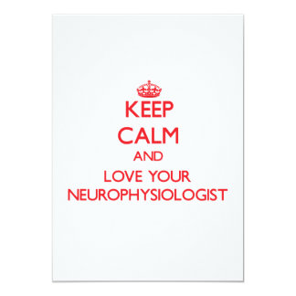 Keep Calm and Love your Neurophysiologist Invite