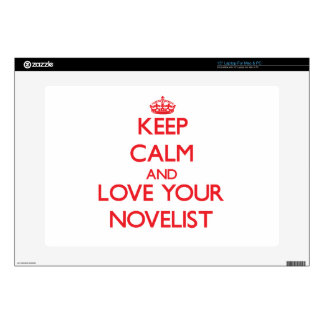 Keep Calm and Love your Novelist Laptop Skins