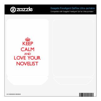 Keep Calm and Love your Novelist FreeAgent GoFlex Decals
