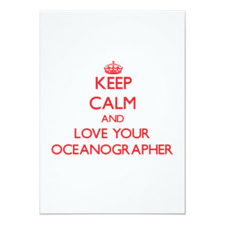 Keep Calm and Love your Oceanographer 5x7 Paper Invitation Card