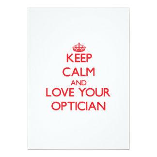 Keep Calm and Love your Optician Custom Announcements