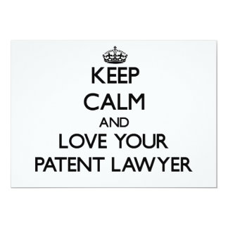 Keep Calm and Love your Patent Lawyer Personalized Invitations