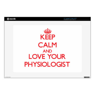 "Keep Calm and Love your Physiologist 15"" Laptop Skins"