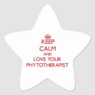 Keep Calm and Love your Phytotherapist Star Stickers