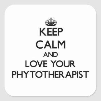 Keep Calm and Love your Phytotherapist Stickers