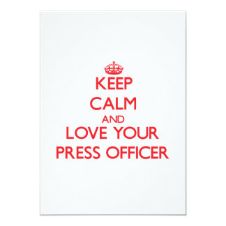 Keep Calm and Love your Press Officer Cards