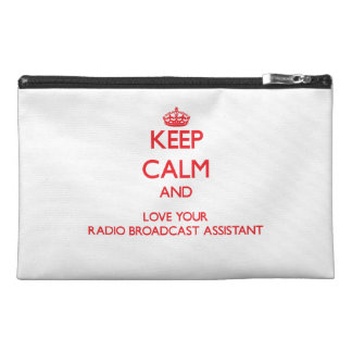 Keep Calm and Love your Radio Broadcast Assistant Travel Accessories Bags
