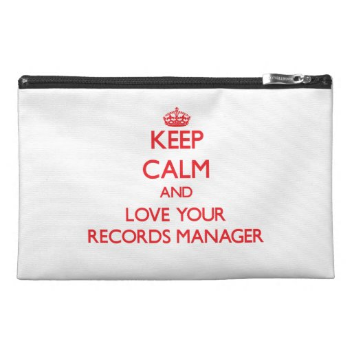 Keep Calm and Love your Records Manager Travel Accessories Bag