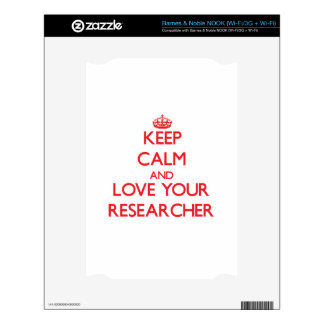Keep Calm and Love your Researcher NOOK Decals