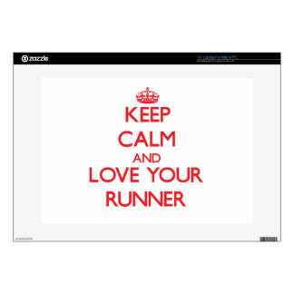 """Keep Calm and Love your Runner 15"""" Laptop Skin"""