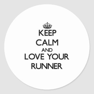 Keep Calm and Love your Runner Stickers