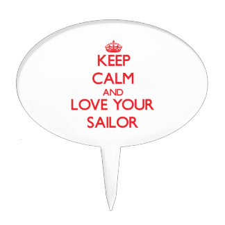 Keep Calm and Love your Sailor Cake Pick