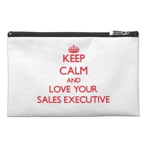 Keep Calm and Love your Sales Executive Travel Accessory Bag