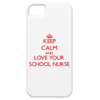 Keep Calm and Love your School Nurse iPhone 5/5S Case