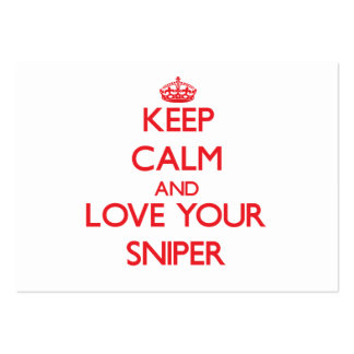 Keep Calm and Love your Sniper Business Card Template