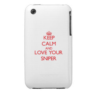Keep Calm and Love your Sniper Case-Mate iPhone 3 Cases