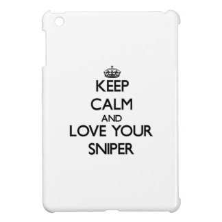 Keep Calm and Love your Sniper iPad Mini Covers