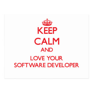 Keep Calm and Love your Software Developer Post Cards