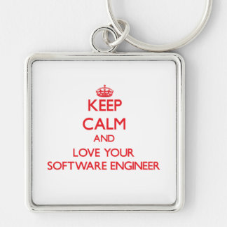 Keep Calm and Love your Software Engineer Keychains