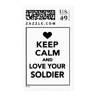 Keep calm and love your Soldier Postage