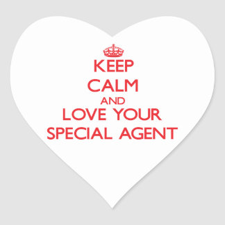 Keep Calm and Love your Special Agent Stickers